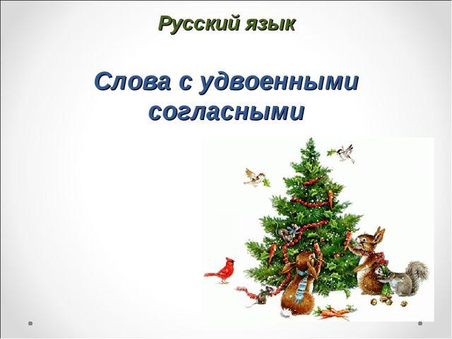 Русский язык Слова с удвоенными согласными