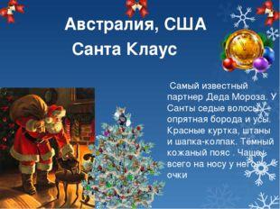 Самый известный партнер Деда Мороза. У Санты седые волосы, опрятная борода и