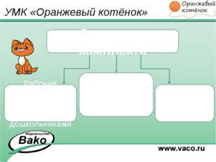 УМК «Оранжевый котёнок» Структура комплекта Методические рекомендации для пед