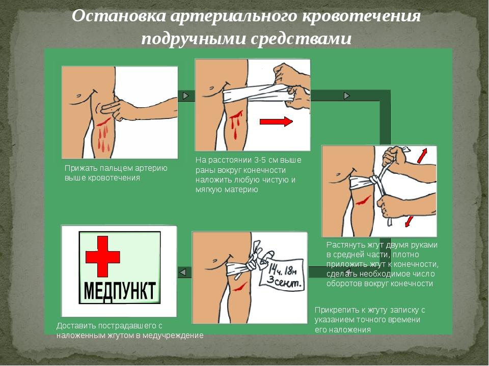 Какие подручные средства можно использовать для оказания первой помощи