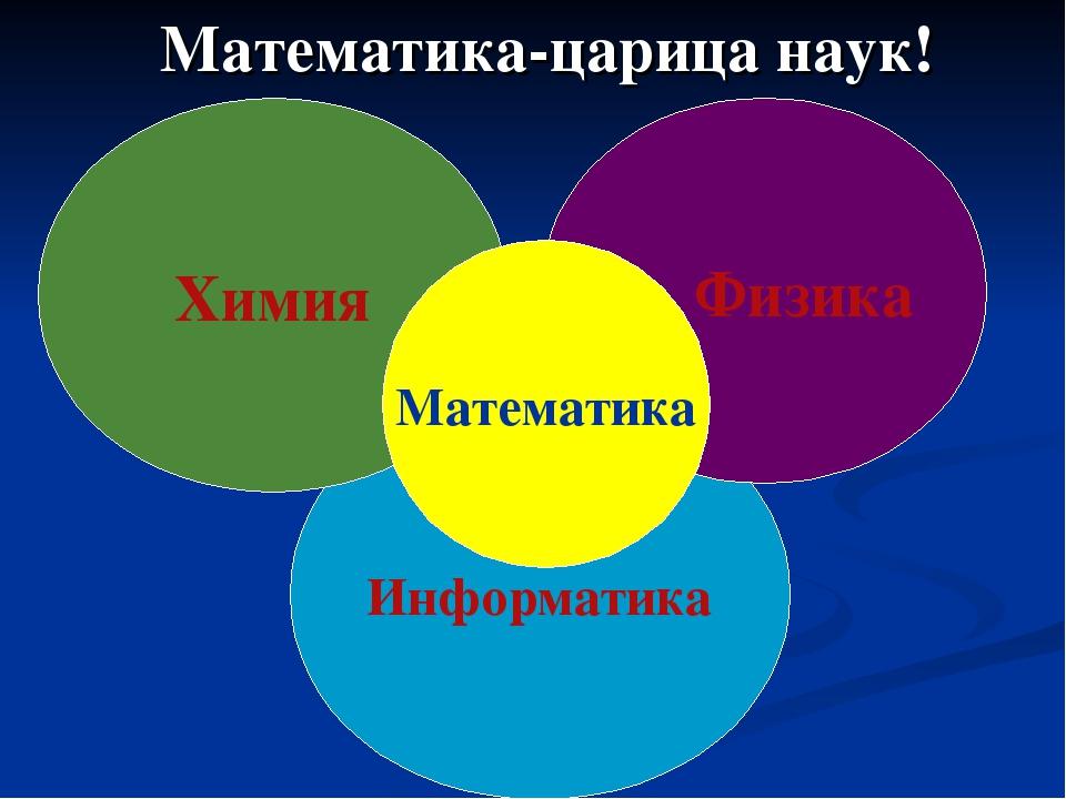 Математика-царица наук! Информатика Химия Физика Математика
