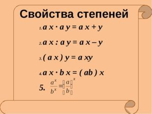 Тест по теме: «Показательная функция» Ключ к ответу Взаимопроверка 1. вариан