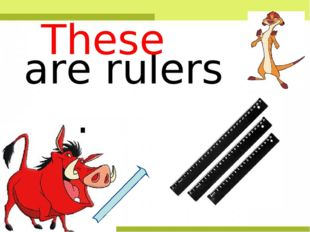 are rulers . These