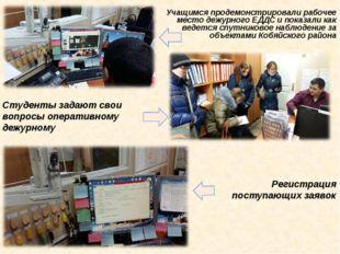Регистрация поступающих заявок Студенты задают свои вопросы оперативному дежу