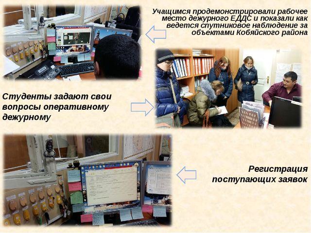 Регистрация поступающих заявок Студенты задают свои вопросы оперативному дежу...