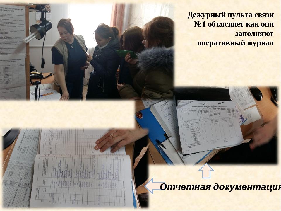 Дежурный пульта связи №1 объясняет как они заполняют оперативный журнал Отчет...