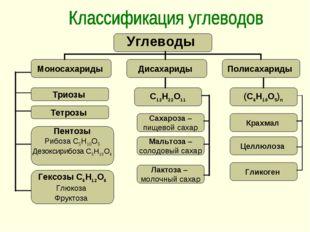 Триозы Тетрозы Пентозы Рибоза С5Н10О5 Дезоксирибоза С5Н10О4 Гексозы С6Н12О6 Г