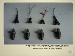 Форсунки с колодками для подсоединения электропитания к форсункам.
