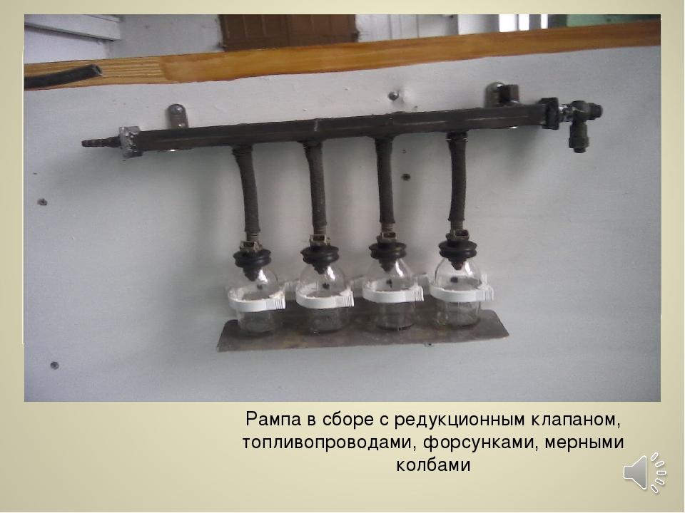 Рампа в сборе с редукционным клапаном, топливопроводами, форсунками, мерными...
