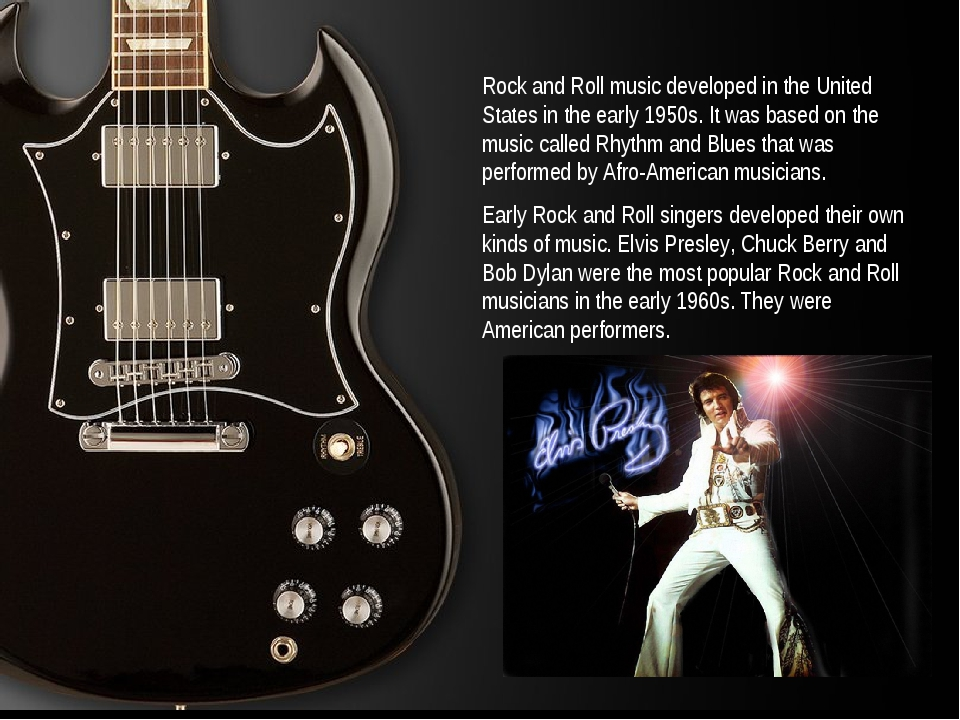 Rock and Roll music developed in the United States in the early 1950s. It was...