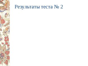 Результаты теста № 2