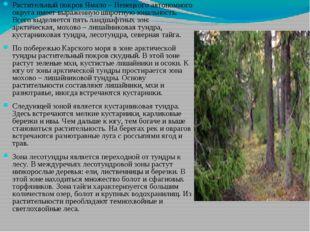 Растительный покров Ямало – Ненецкого автономного округа имеет выраженную шир
