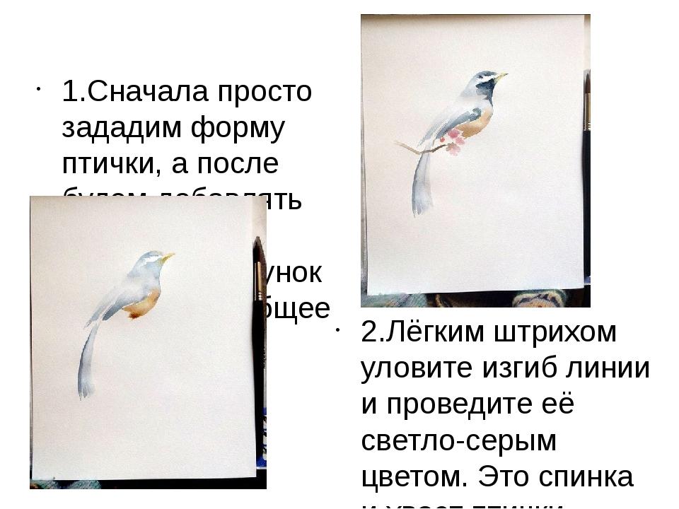 1.Сначала просто зададим форму птички, а после будем добавлять детали и насы...