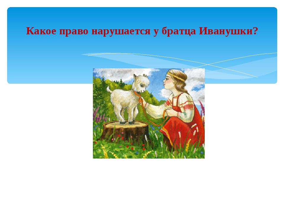Какое право нарушается у братца Иванушки?