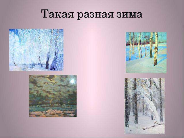 Такая разная зима