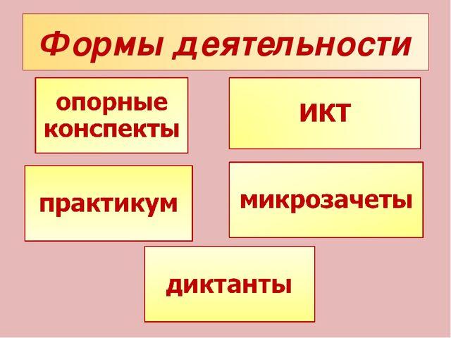 Формы деятельности