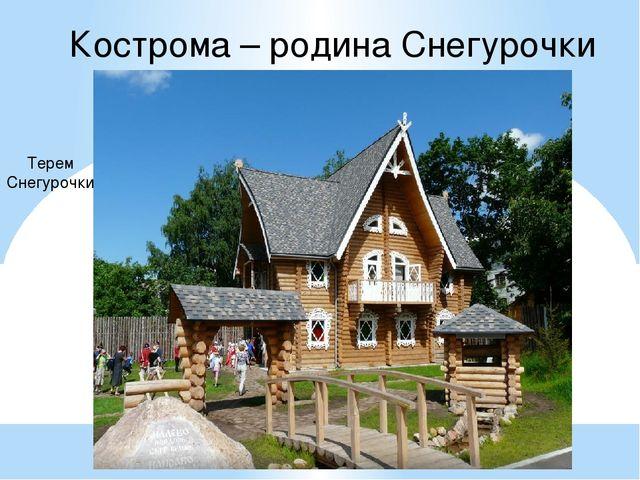 Кострома – родина Снегурочки Терем Снегурочки