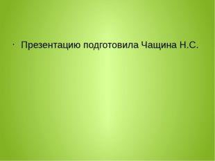 Презентацию подготовила Чащина Н.С.