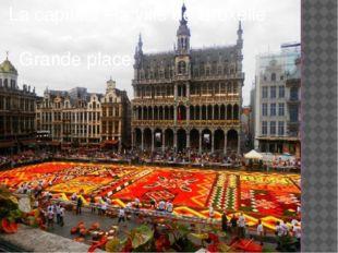 La capitale –la ville de Bruxelle Grande place