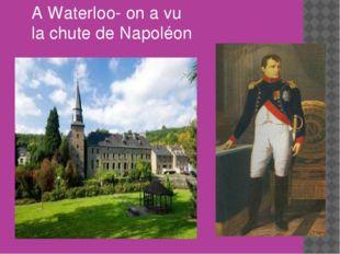 A Waterloo- on a vu la chute de Napoléon