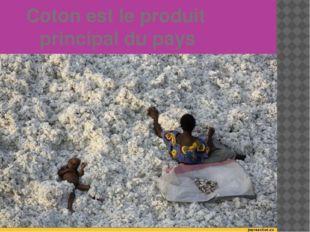Coton est le produit principal du pays