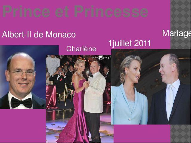 Prince et Princesse Albert-II de Monaco Mariage- 1juillet 2011 Charlène