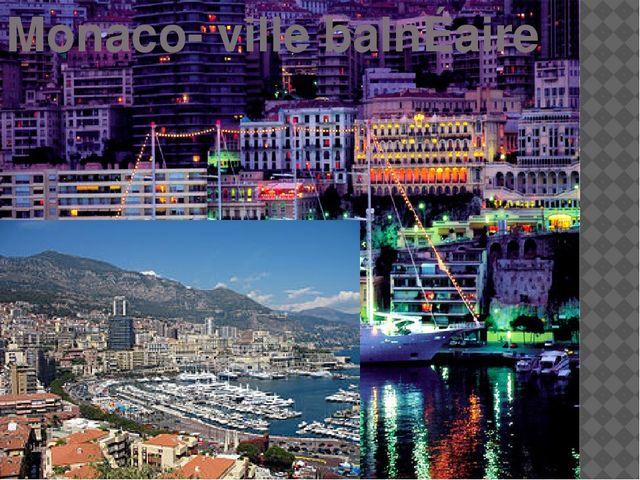 Monaco- ville balnÉaire