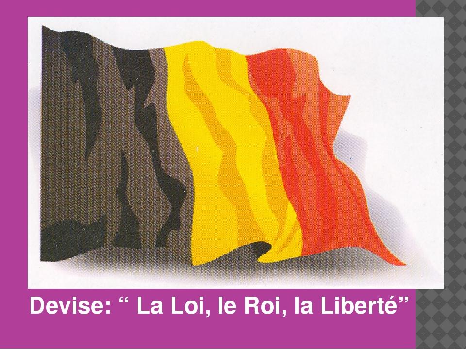 """Devise: """" La Loi, le Roi, la Liberté"""""""