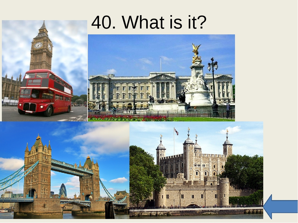 50. Match the sights Trafalgar Big Tower Buckingham The Houses of Westminster...