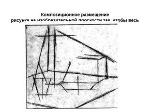 Композиционное размещение рисунка на изобразительной плоскости так, чтобы ве