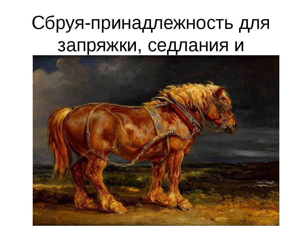Сбруя-принадлежность для запряжки, седлания и управления лошадью.