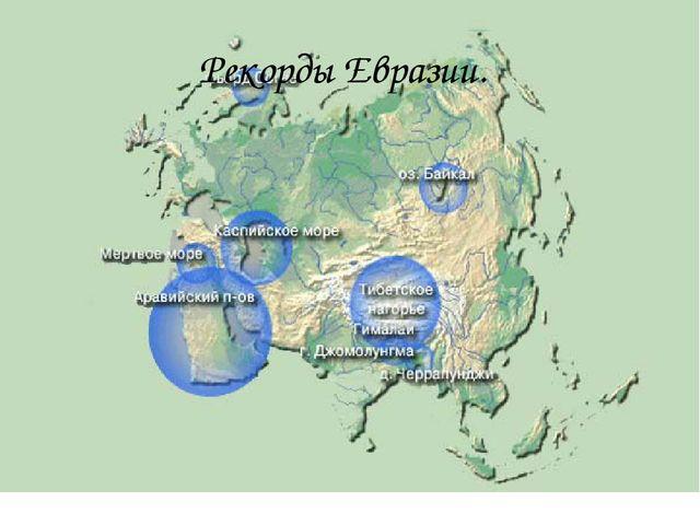Рекорды Евразии.