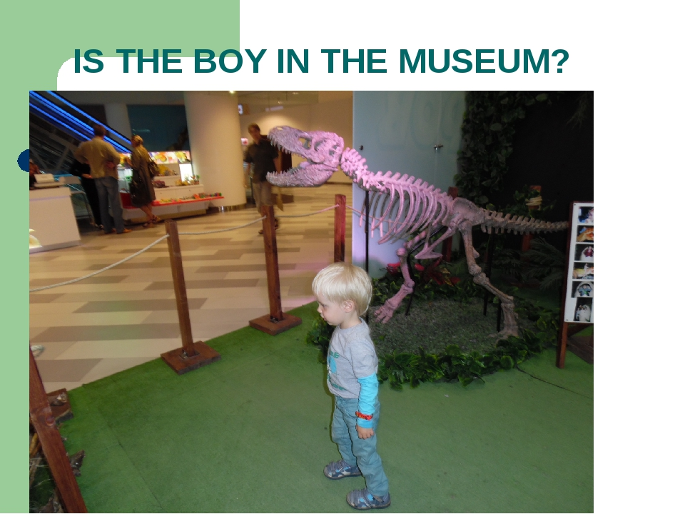 IS THE BOY IN THE MUSEUM?