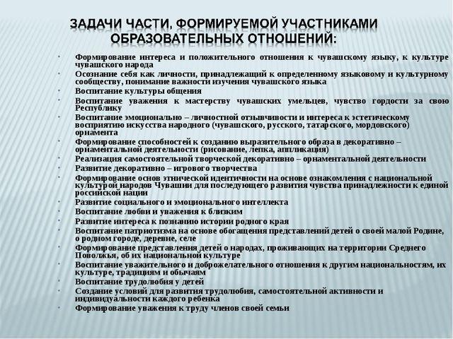 Формирование интереса и положительного отношения к чувашскому языку, к культу...
