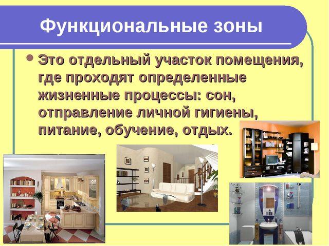 Функциональные зоны Это отдельный участок помещения, где проходят определенны...