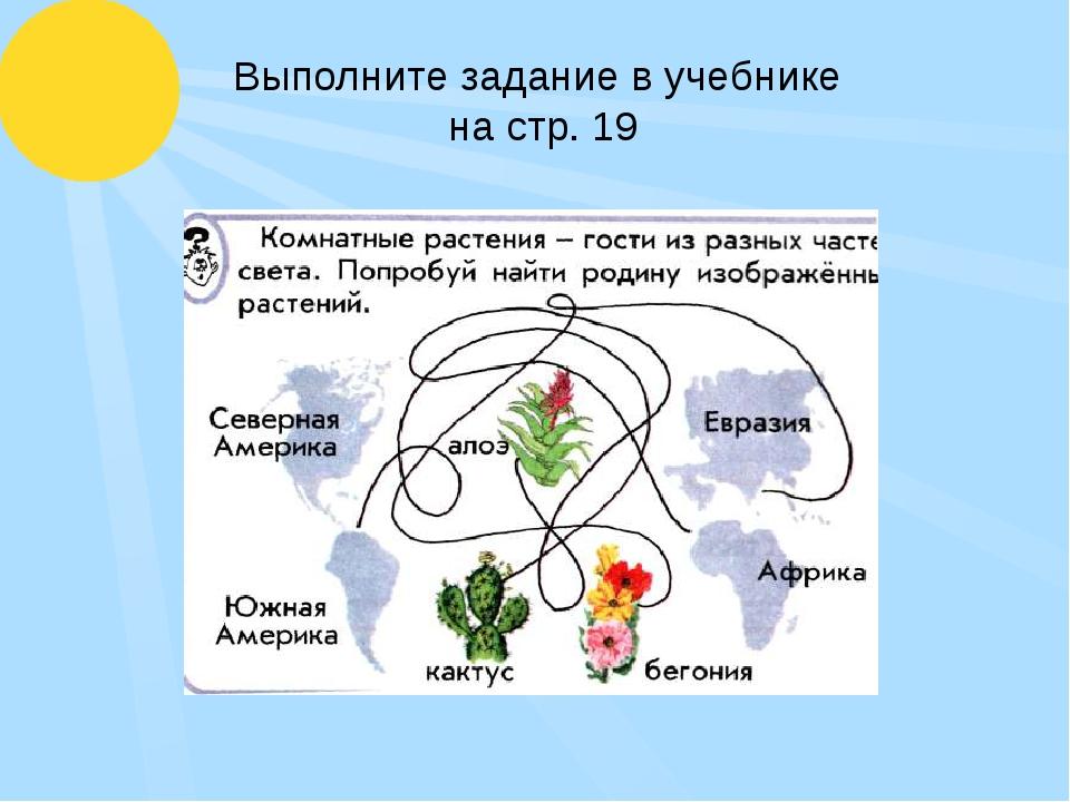 Выполните задание в учебнике на стр. 19