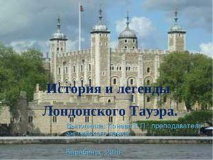 Выполнила: Конева Е.П., преподаватель английского языка. Барабинск, 2016 Исто