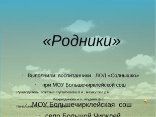 Руководитель: вожатые Нугайбекова Н.и., махмутова р.м., Фахритдинова и.з., яг