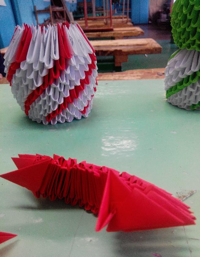 Оригами церковь из модулей
