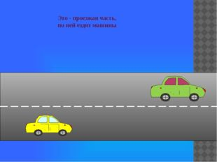 Это - проезжая часть, по ней ездят машины