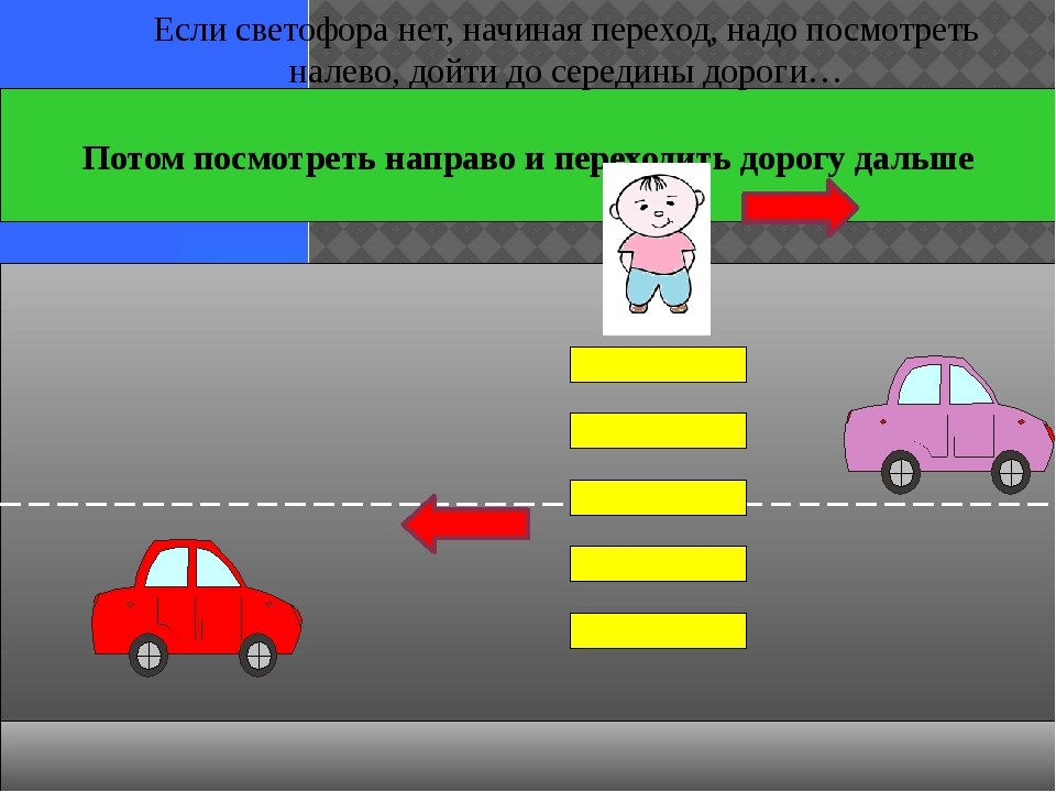 Потом посмотреть направо и переходить дорогу дальше Если светофора нет, начи...