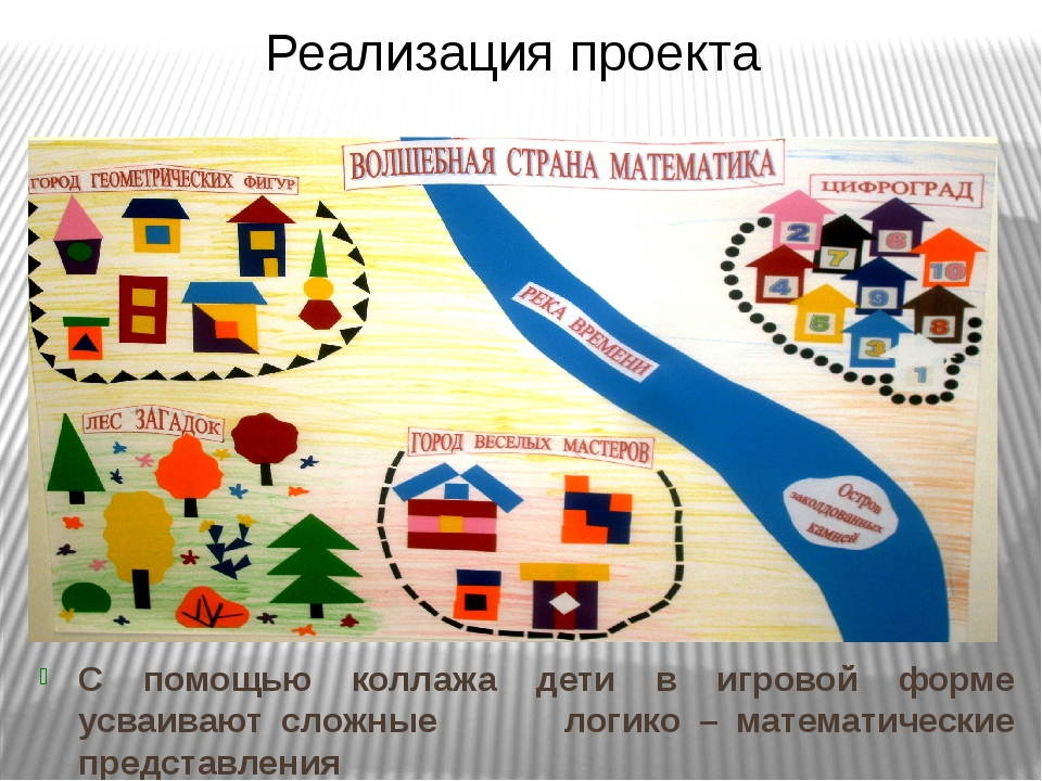 С помощью коллажа дети в игровой форме усваивают сложные логико – математичес...