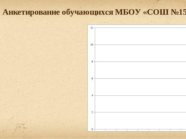 Анкетирование обучающихся МБОУ «СОШ №15»