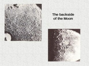 The backside of the Moon