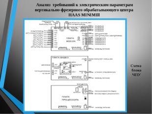 Анализ требований к электрическим параметрам вертикально-фрезерного обрабатыв