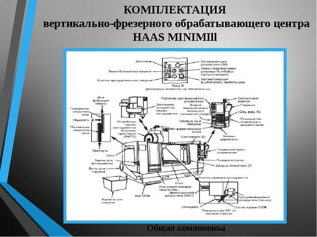 КОМПЛЕКТАЦИЯ вертикально-фрезерного обрабатывающего центра HAAS MINIMIll Обща...