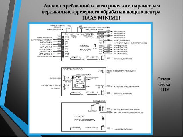 Анализ требований к электрическим параметрам вертикально-фрезерного обрабатыв...