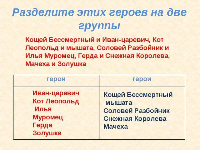 Кощей Бессмертный и Иван-царевич, Кот Леопольд и мышата, Соловей Разбойник и...