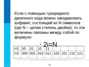 Объем информации равен длине двоичного кода. Основная единица: 1 бит - один д