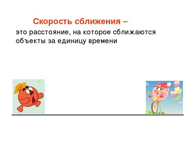 Скорость сближения – это расстояние, на которое сближаются объекты за единицу...